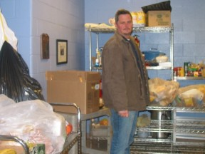 Todd with donations from Trader Joe